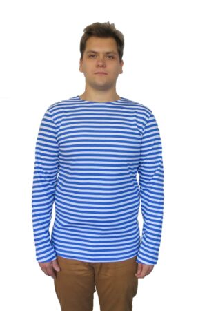 Тельняшка мужская синяя полоса (великан) оптом от производителя Иваново по низким ценам