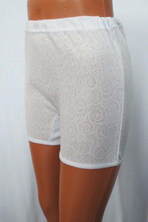 Панталоны укороченные белые (ажур) оптом от производителя Иваново